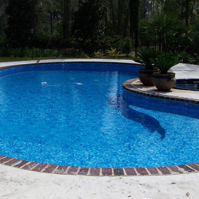Steps and Pool Entry for Concrete Vinyl Lined Pools